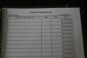 Keep track of the books your student has read and the ones you hope he reads! Just date it and rate it when he's finished.